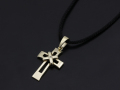 Tied Cross Necklace 2015 Christmas Model - K10 Yellow Gold