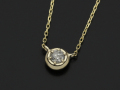 Ash Diamond Chain Necklace - K10Yellow Gold