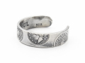 Old Coin Toe Ring - Silver