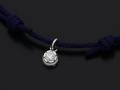 Cord Bracelet用 Peace Charm - Silver w/CZ