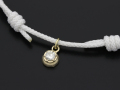 Cord Bracelet用 Peace Charm - K10Yellow Gold w/Diamond