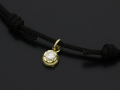 Cord Bracelet用 Peace Charm - K18Yellow Gold w/Diamond