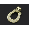 Horseshoe Large Pendant - K18Yellow Gold w/Diamond