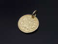 Bless Coin Charm - K18Yellow Gold