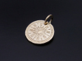 Hope Sun Coin Charm - K10Yellow Gold