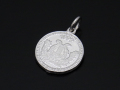 Medium Good Luck Coin Charm - Silver