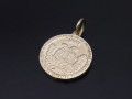 Medium Good Luck Coin Charm - K10Yellow Gold