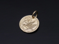 Liberty Swallow Coin Charm - K10Yellow Gold