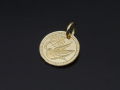 Liberty Swallow Coin Charm - K18Yellow Gold
