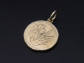 Medium Liberty Swallow Coin Charm - K10Yellow Gold