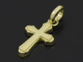 Smooth Cross Pendant M - K18Yellow Gold