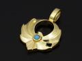 Symbolic Eagle Pendant Small - K18YG w/Turquoise