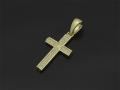 Ridge Cross Pendant - Small K18Yellow Gold w/Diamond