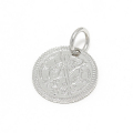 Bless Coin Charm - Silver