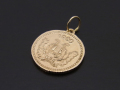 Medium Good Luck Coin Charm - K10 Yellow Gold
