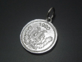 Medium Good Luck Coin Charm - Silver Shiny