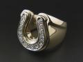 Combination Horseshoe Ring - K10 Yellow Gold w/Diamond