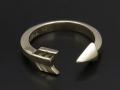 Arrow Ring - K10 Yellow Gold