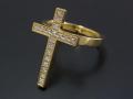 Ray Cross Ring - K18 Yellow Gold w/Diamond