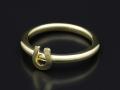 Mini Horseshoe Charm Ring - K18Yellow Gold