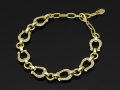 Horseshoe Amulet Link Bracelet - K18Yellow Gold w/Diamond