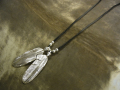 2 Arrow Feather Necklace / Leather