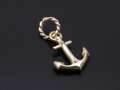 Anchor Pendant - K10Yellow Gold