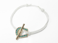 Fortune Code Bracelet & Anklet - K10Yellow Gold w/Turquoise