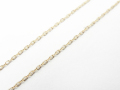 K10 Yellow Gold 0.25 Square Chain - 50cm