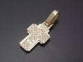 Dazzle Cross Pendant - S K10Yellow Gold w/Diamond