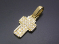 Dazzle Cross Pendant - S K18Yellow Gold w/Diamond