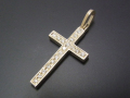 Ray Cross Pendant - K10Yellow Gold w/Diamond