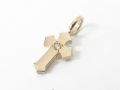 Little Cross Charm K10 w/1Diamond