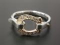 Horseshoe Band Ring - K10Yellow Gold w/Diamond