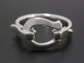 Horseshoe Band Ring - Silver