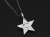 Marbles×SYMPATHY OF SOUL Collaboration Star Necklace - Silver