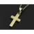 Small Gravity Cross Necklace - K18Yellow Gold w/Diamond