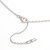 Horseshoe Amulet + Smooth Cross Set Necklace - Silver w/Clear CZ