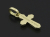 Smooth Cross Pendant - K18Yellow Gold