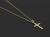 Ridge Cross Pendant - Medium K18Yellow Gold w/Diamond