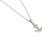 Anchor Pendant Medium - Silver w/Clear CZ