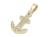 Anchor Pendant Medium - K18Yellow Gold w/Diamond