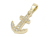 Anchor Pendant Medium - K18Yellow Gold w/Diamond