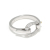 Horseshoe Band Ring - Silver w/CZ