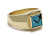 Square Turquoise Ring - K18Yellow Gold