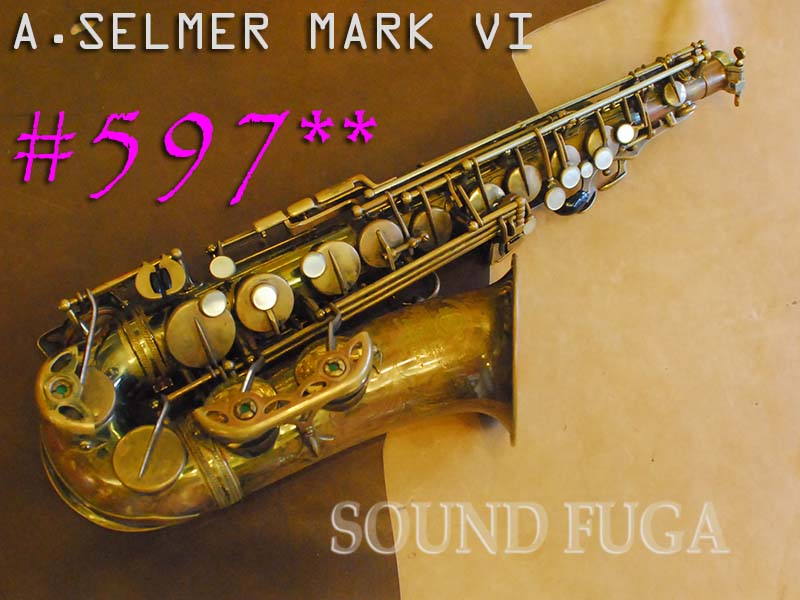 A.SELMER MARK VI 59千番台 オリジナルラッカー アルトサックス