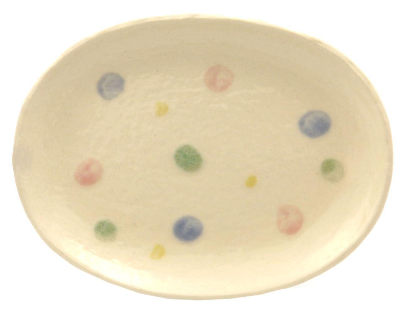 18cmの取り皿に使える楕円皿 3サイズの真ん中のお皿【楕円皿中(あめ玉)】