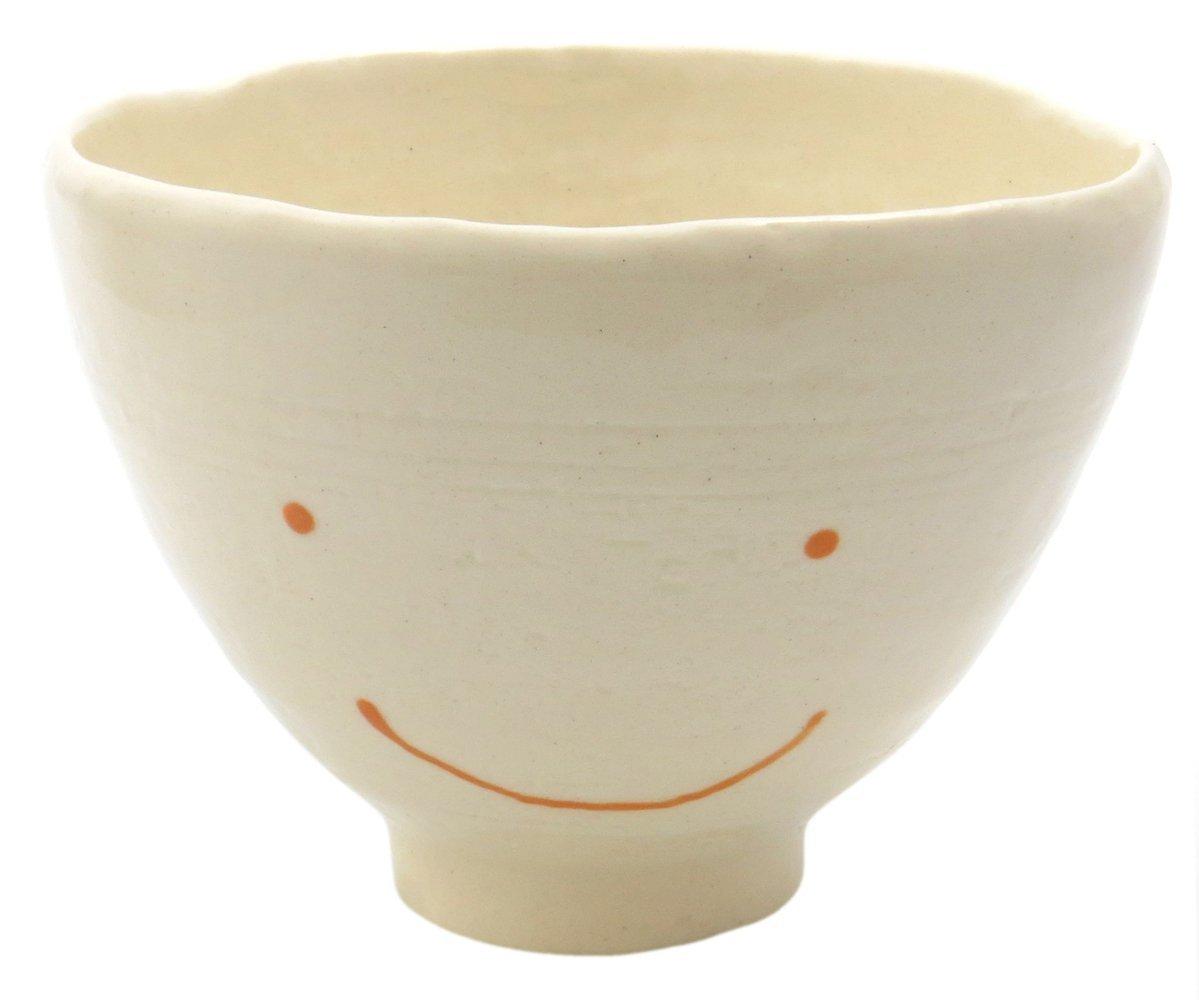 スマートな形のご飯茶碗【飯碗(オレンジにっこり)】