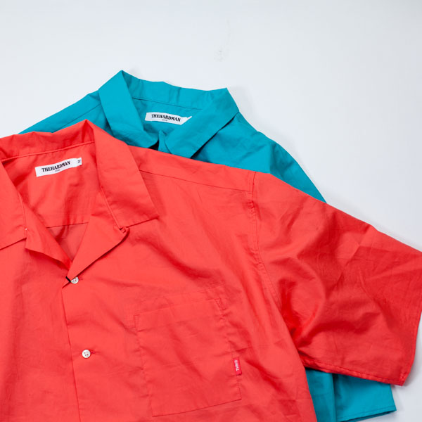 [THE HARD MAN] Open Coller S/S Shirts
