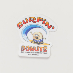 [SURFIN' DONUTS]  STICKER B-type
